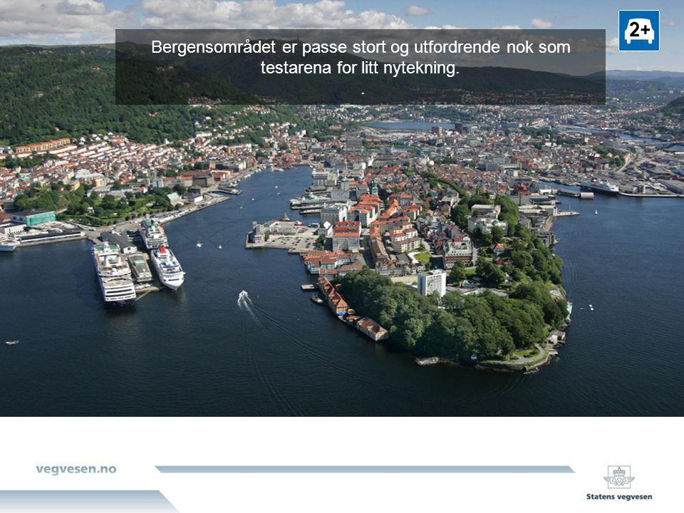 Nytenkning med start i Bergen I 20 år har man vedtatt at byenes trafikkvekst skal tas av kollektivtrafikk og gang/ sykkel.