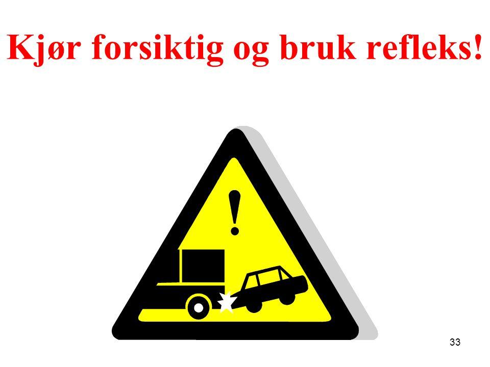 Kjør forsiktig og bruk refleks! 33