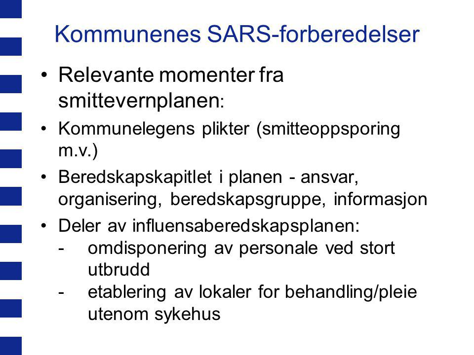 Kommunenes SARS-forberedelser Mangler ved Oslo-plan i.f.t.