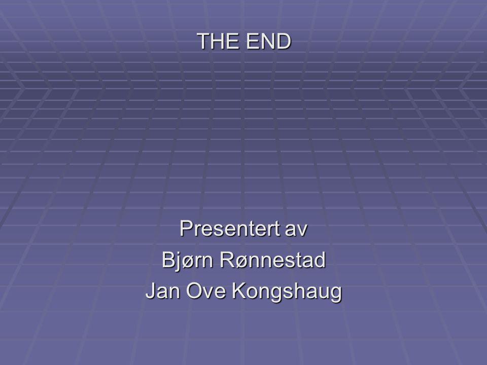 THE END Presentert av Bjørn Rønnestad Jan Ove Kongshaug Takker til de ansatte ved laboratoriet for radiologisk datering!
