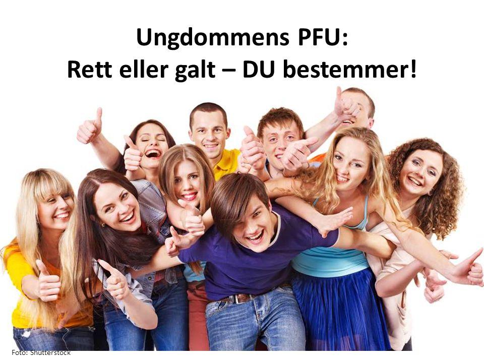 Foto: Shutterstock Ungdommens PFU: Rett eller galt – DU bestemmer!