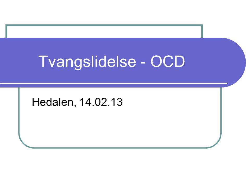 Tvangslidelse - OCD Hedalen, 14.02.13