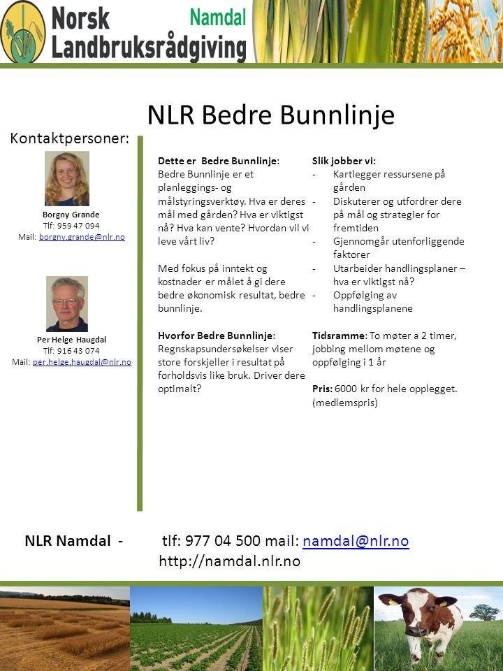 Kontaktpersoner: Borgny Grande Tlf: 959 47 094 Mail: borgny.grande@nlr.noborgny.grande@nlr.no Per Helge Haugdal Tlf: 916 43 074 Mail: per.helge.haugda