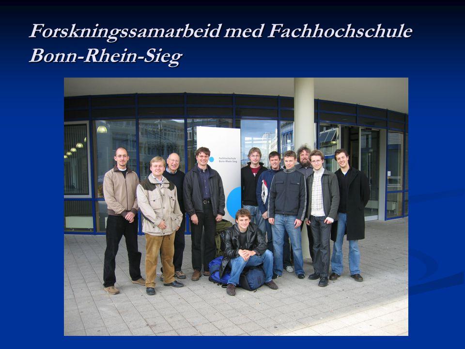 Forskningssamarbeid med Fachhochschule Bonn-Rhein-Sieg