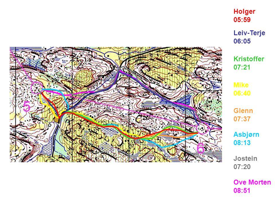 Ove Morten 04:57 Jostein 04:28 Asbjørn 07:53 Glenn 05:54 Mike 06:37 Kristoffer 05:02 Leiv-Terje 04:08 Holger 04:02