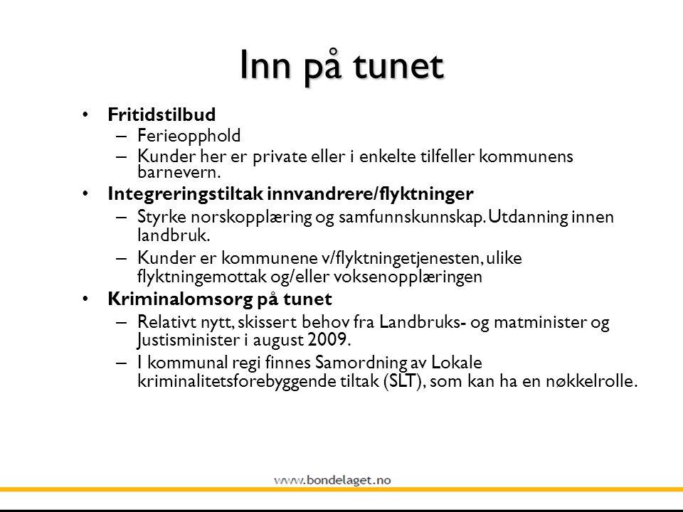 Inn på tunet Fritidstilbud – Ferieopphold – Kunder her er private eller i enkelte tilfeller kommunens barnevern.