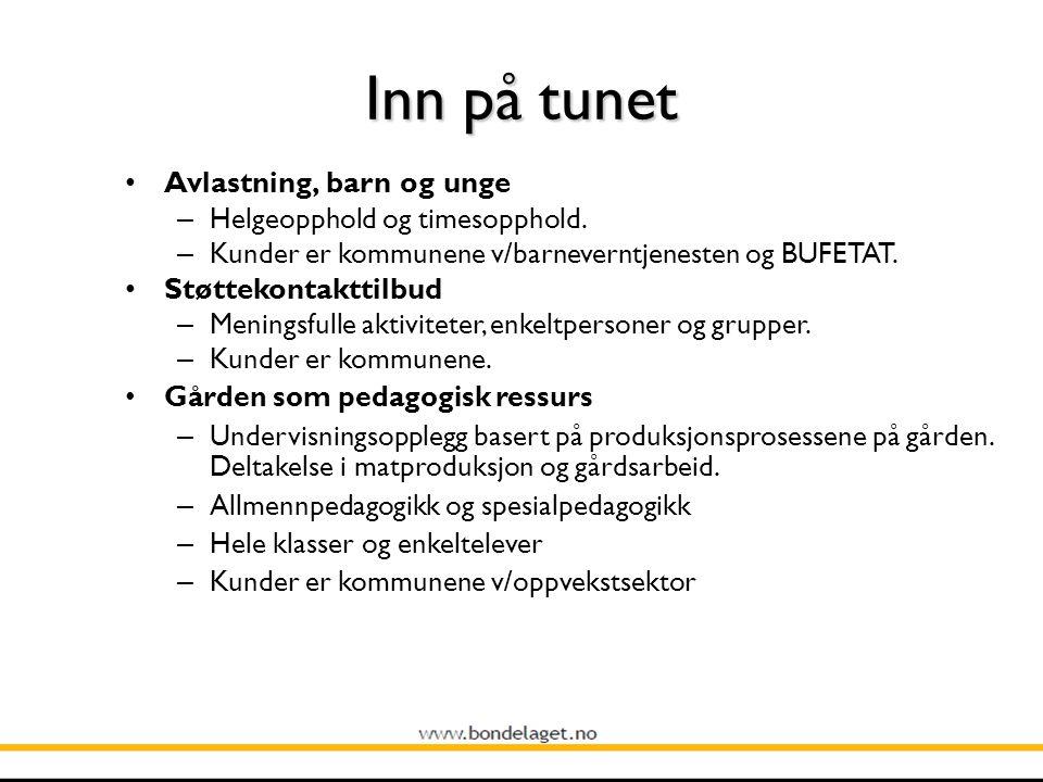Inn på tunet Avlastning, barn og unge – Helgeopphold og timesopphold.