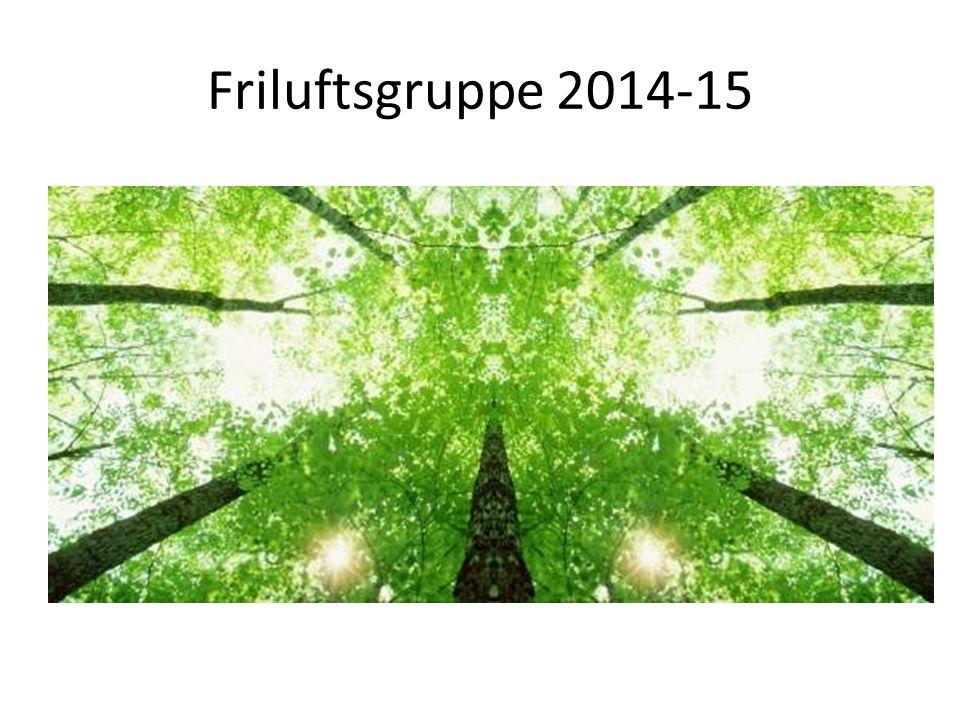 Friluftsgruppe 2014-15