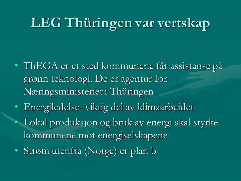 LEG Thüringen var vertskap ThEGA er et sted kommunene får assistanse på grønn teknologi.