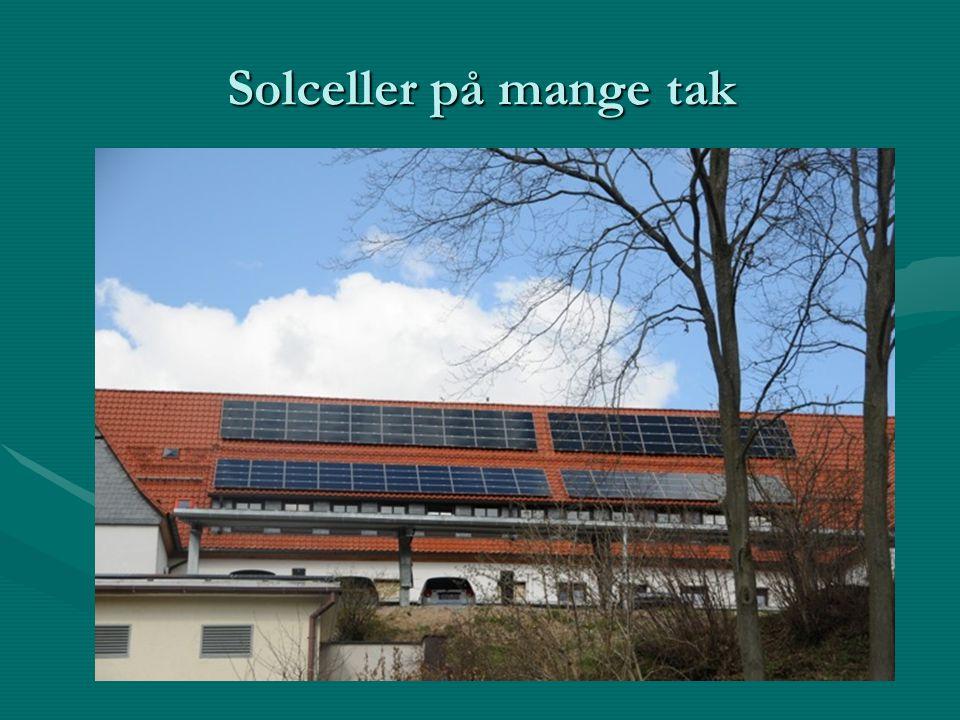 Solceller på mange tak
