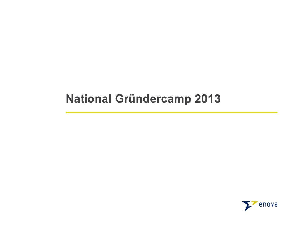 National Gründercamp 2013