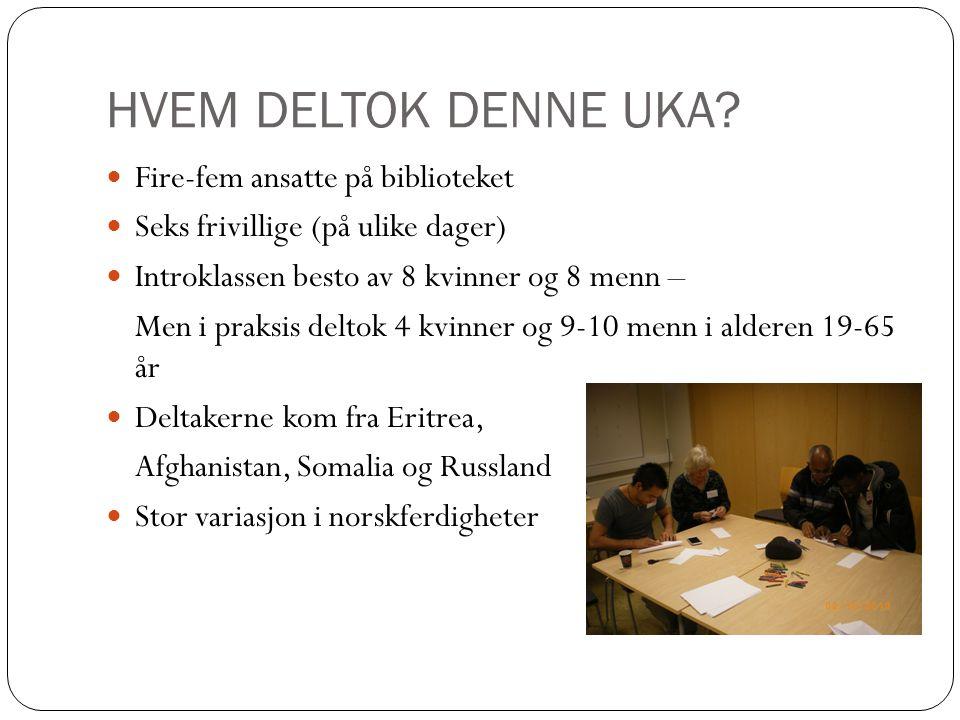 HVEM DELTOK DENNE UKA.