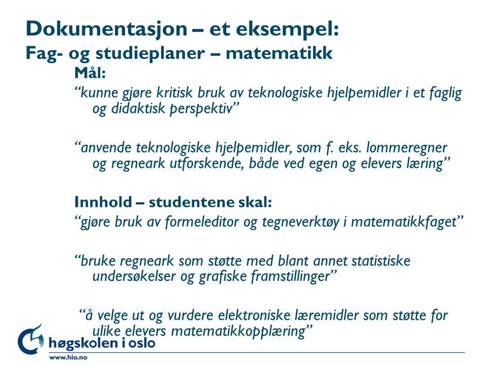 Organiserings- og arbeidsmåter: IKT i matematikkfaget I alle temaene vil det være aktuelt å benytte IKT som praktisk hjelpemiddel.