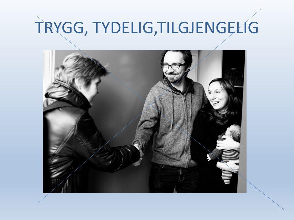 TRYGG, TYDELIG,TILGJENGELIG