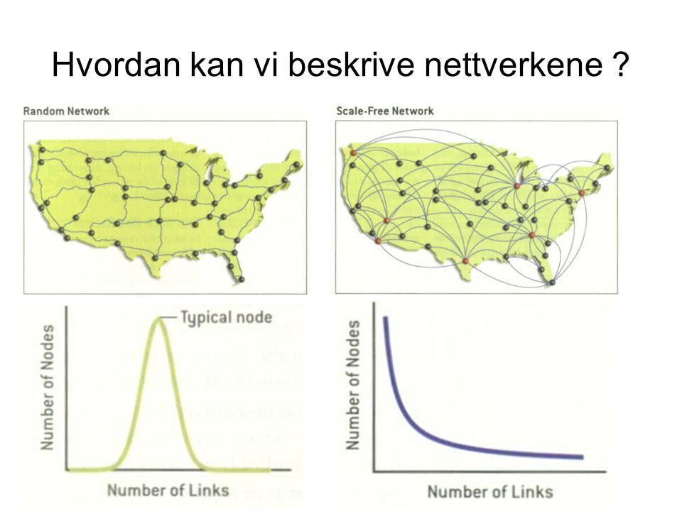 Hvordan kan vi beskrive nettverkene ?