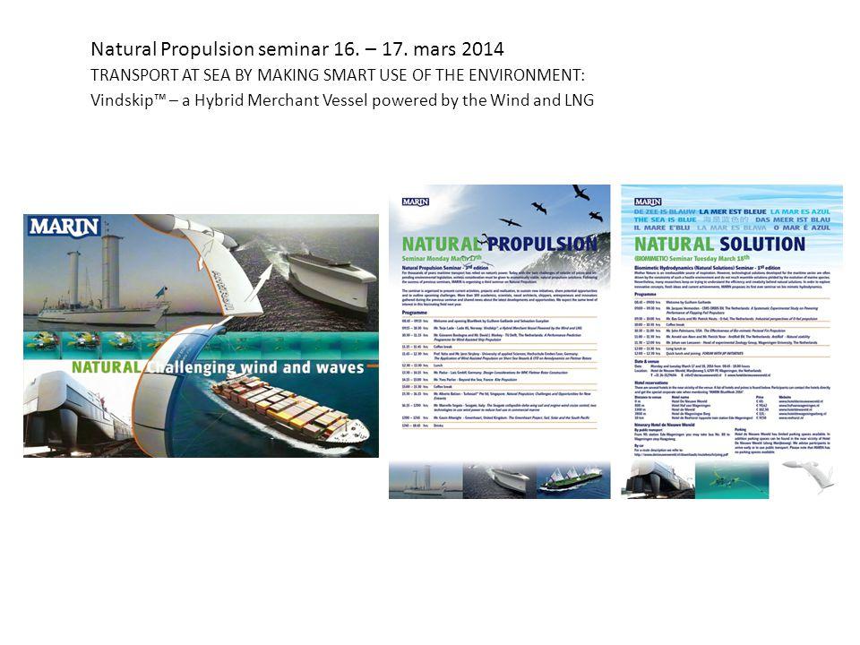 Natural Propulsion seminar 16. – 17.