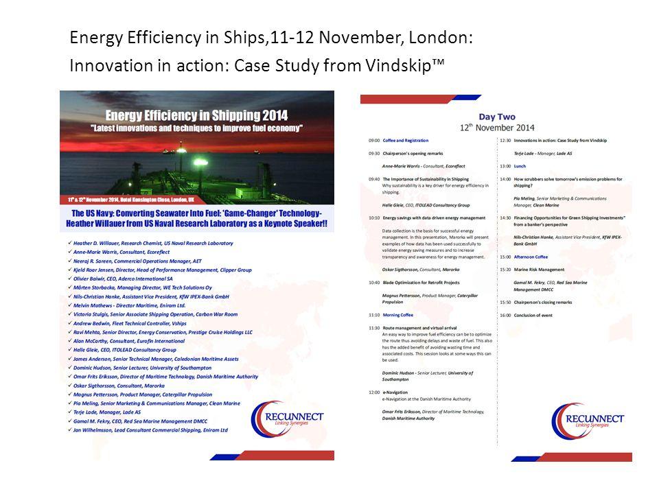 Future Fuels for Shipping,17-18 November, London: Case Study: Wind hybrid vessel. Project Vindskip™
