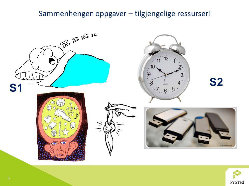 6 S1 S2 Sammenhengen oppgaver – tilgjengelige ressurser!