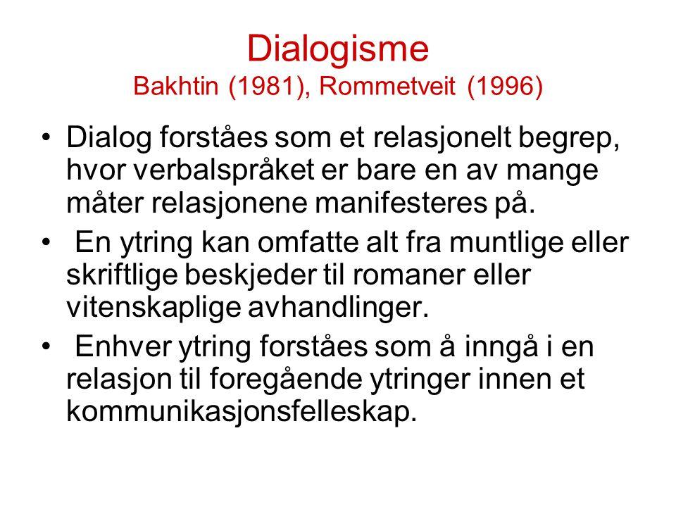 Grammatikalsk struktur (Eks fra Vonen 1997) Eksempel: Er du døv.