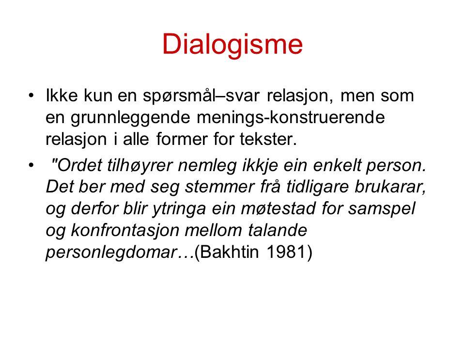 Blandingsformer/ kontaktspråk Tegnspråknorsk Tegn og tale Norsk med tegnstøtte M.M.