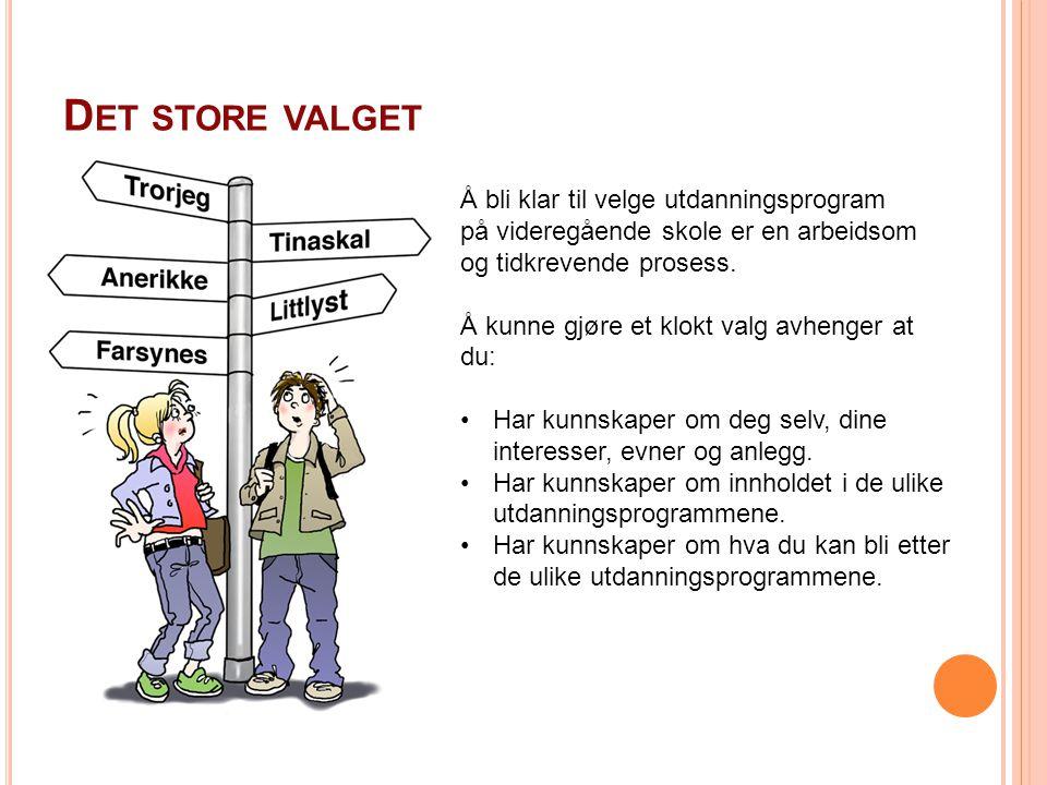 www.you-portalen.no N OEN VANLIGE FEIL : Å velge det kompiser og venninner velger.