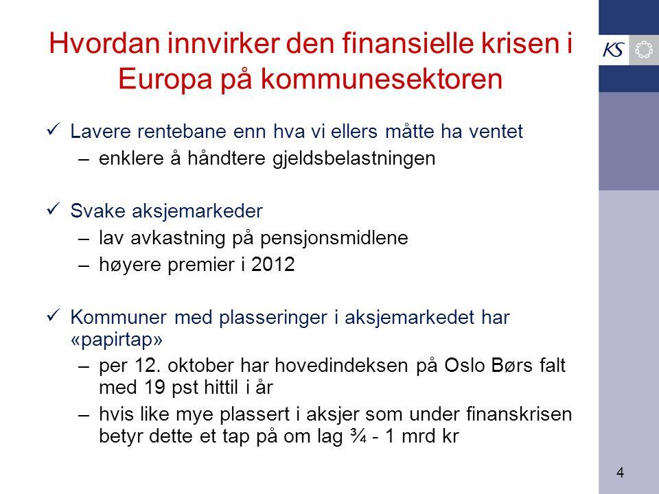 25 Positive premieavvik – regnskapsførte kostnader lavere enn betalte premier Kilde: Kostra, KS