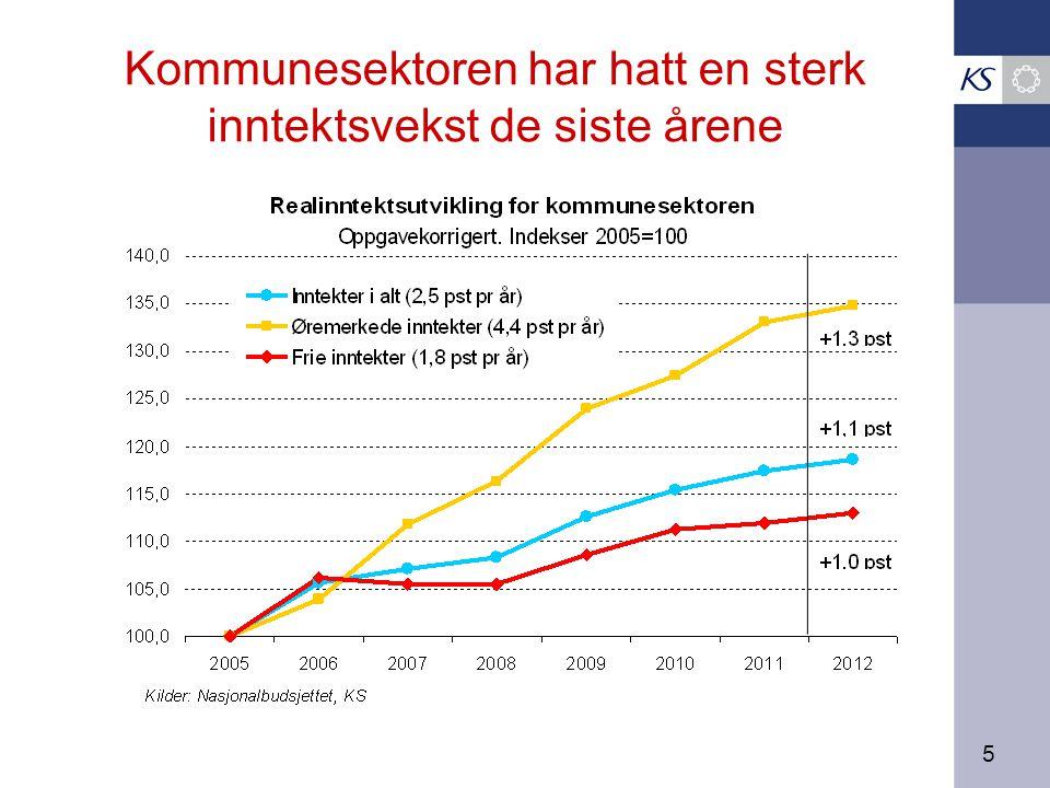 5 Kommunesektoren har hatt en sterk inntektsvekst de siste årene