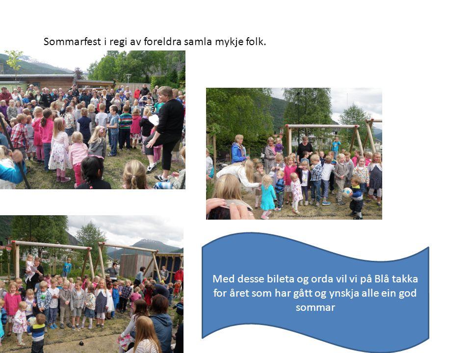 Sommarfest i regi av foreldra samla mykje folk.