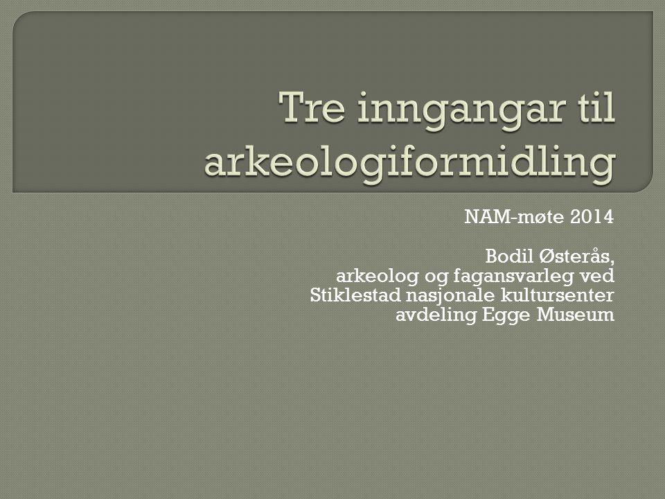 NAM-møte 2014 Bodil Østerås, arkeolog og fagansvarleg ved Stiklestad nasjonale kultursenter avdeling Egge Museum