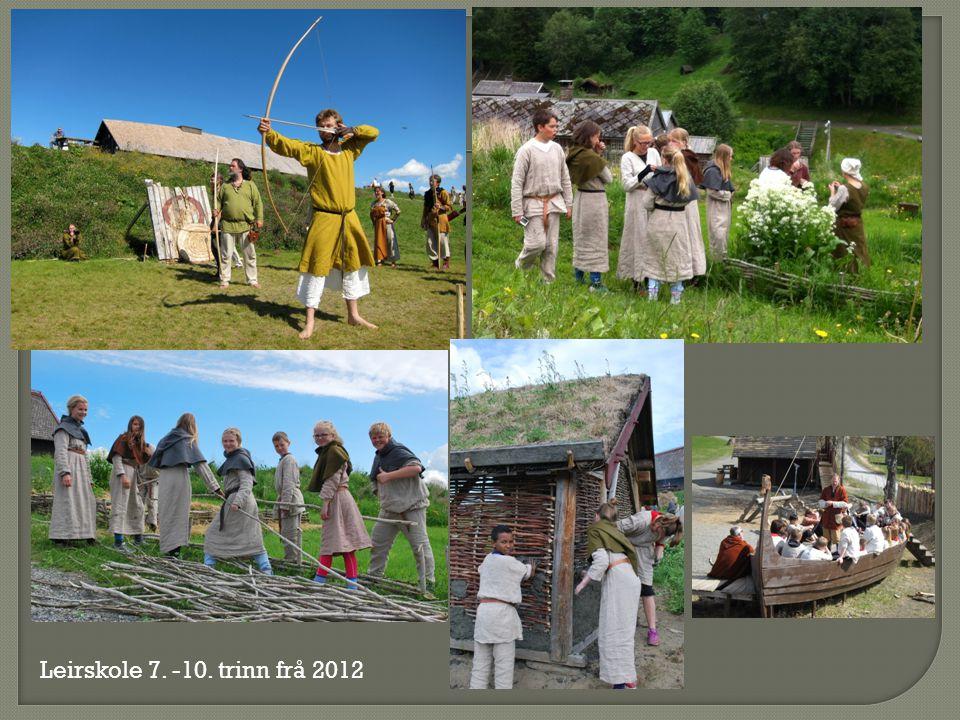 Leirskole 7. -10. trinn frå 2012
