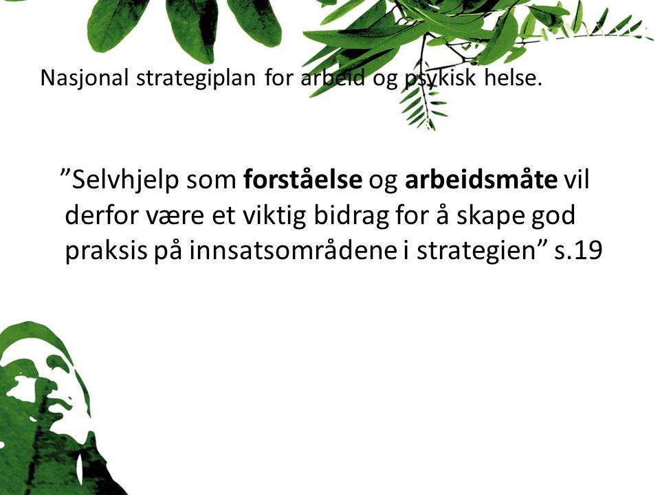 Nasjonal strategiplan for arbeid og psykisk helse.