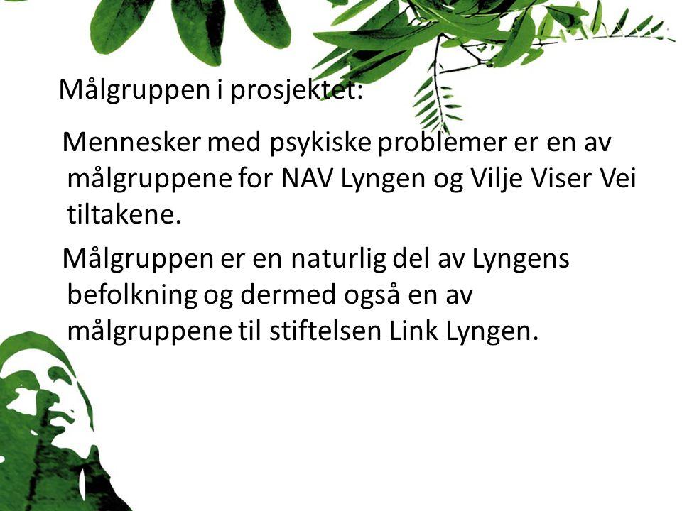 Målgruppen i prosjektet: Mennesker med psykiske problemer er en av målgruppene for NAV Lyngen og Vilje Viser Vei tiltakene.