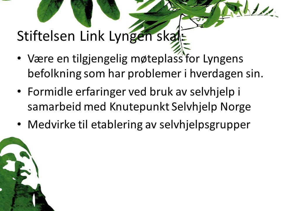 Stiftelsen Link Lyngen skal: Være en tilgjengelig møteplass for Lyngens befolkning som har problemer i hverdagen sin.