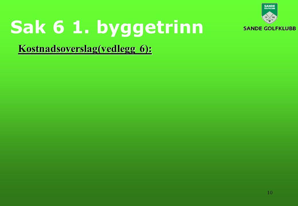 10 Sak 6 1. byggetrinn Kostnadsoverslag(vedlegg 6):