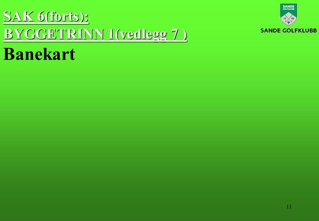 11 SAK 6(forts): BYGGETRINN 1(vedlegg 7 ) Banekart