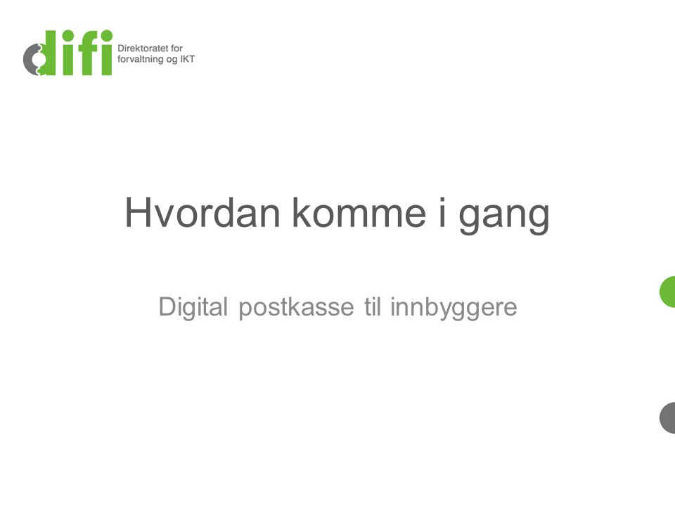 Hvordan komme i gang Digital postkasse til innbyggere