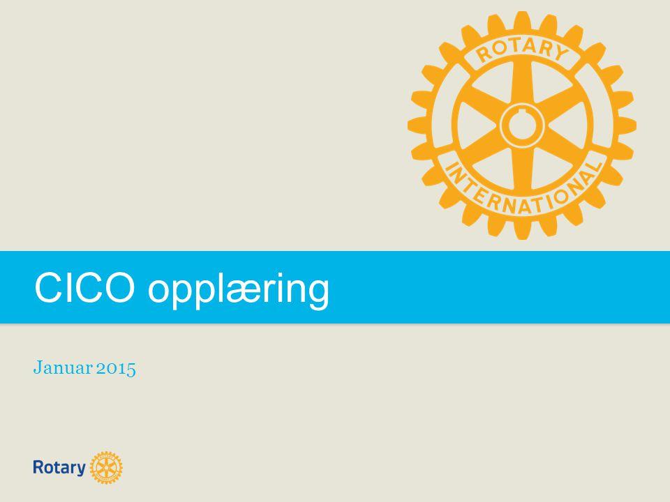 CICO opplæring Januar 2015