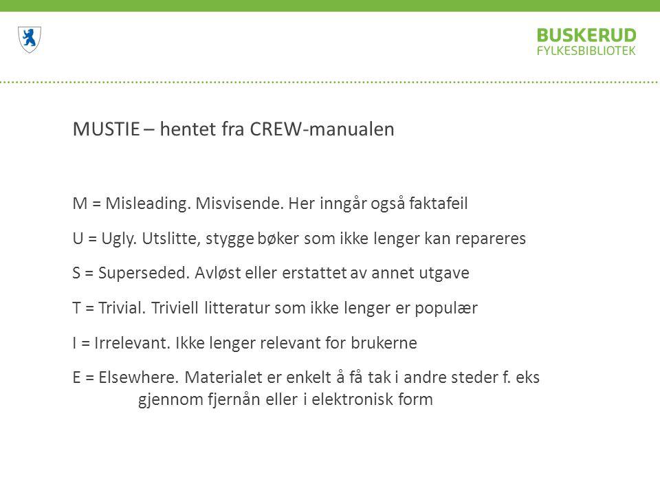 MUSTIE – hentet fra CREW-manualen M = Misleading. Misvisende.