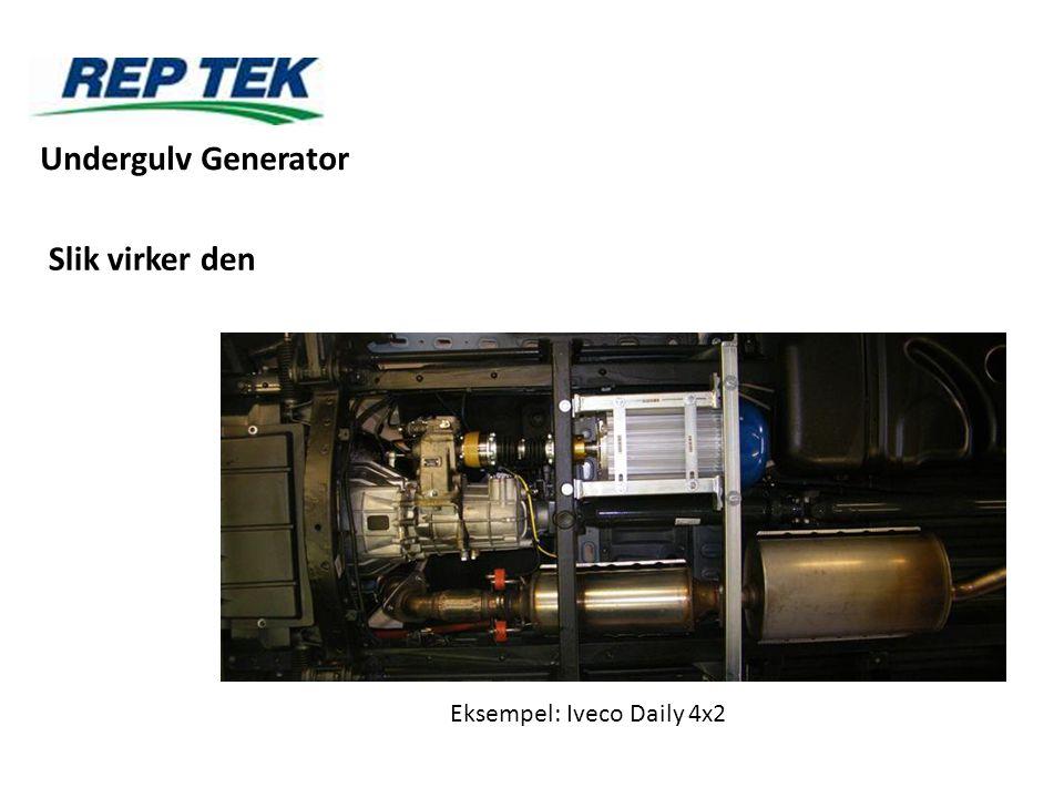 Slik virker den Eksempel: Iveco Daily 4x2 Undergulv Generator