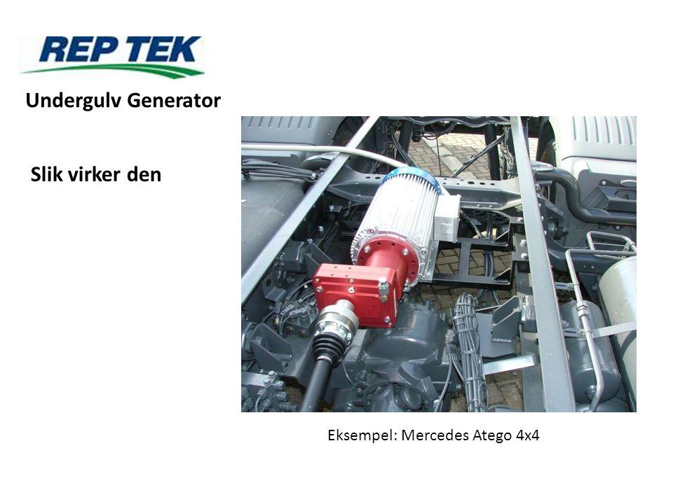 Slik virker den Eksempel: Mercedes Atego 4x4 Undergulv Generator