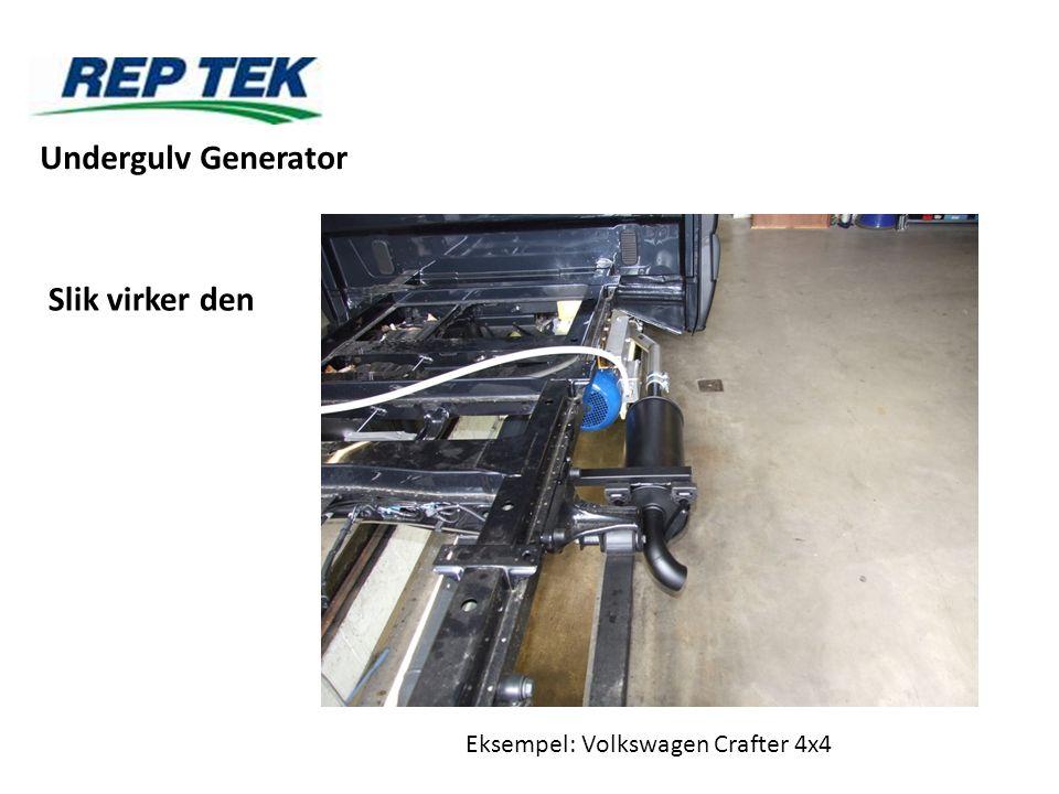 Slik virker den Eksempel: Volkswagen Crafter 4x4 Undergulv Generator