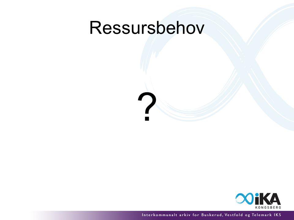Ressursbehov ?