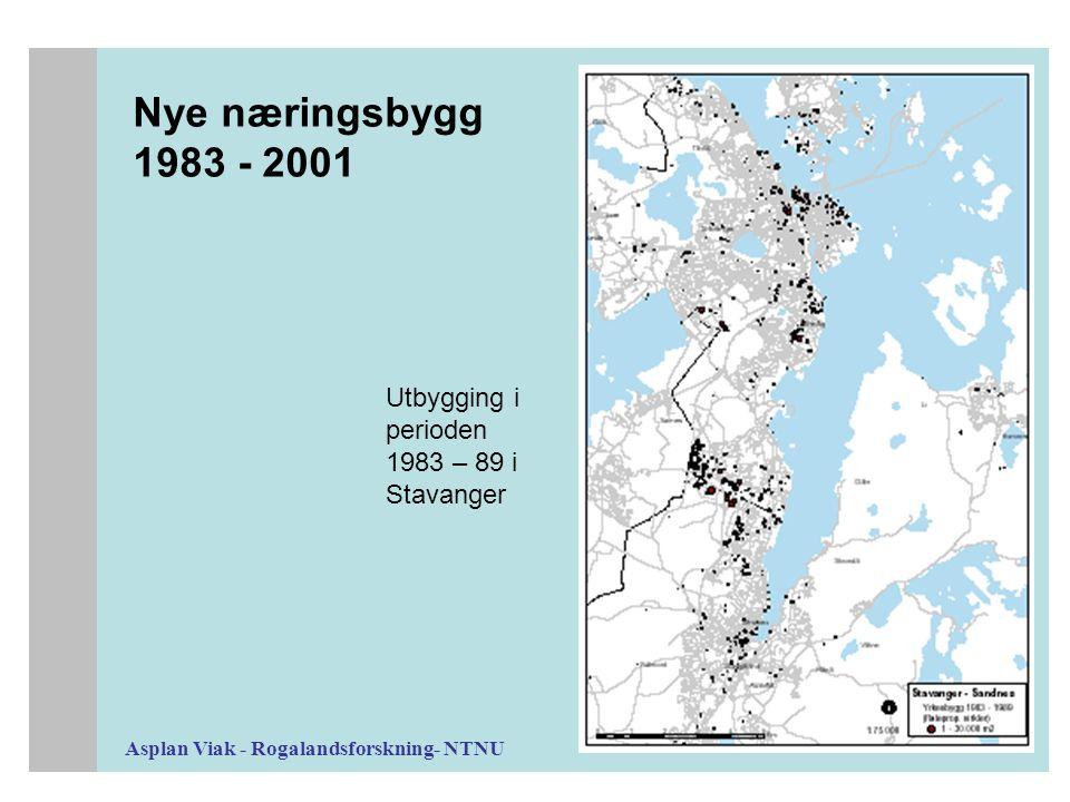 Asplan Viak - Rogalandsforskning- NTNU Nye næringsbygg 1983 - 2001 Utbygging i perioden 1983 – 89 i Stavanger