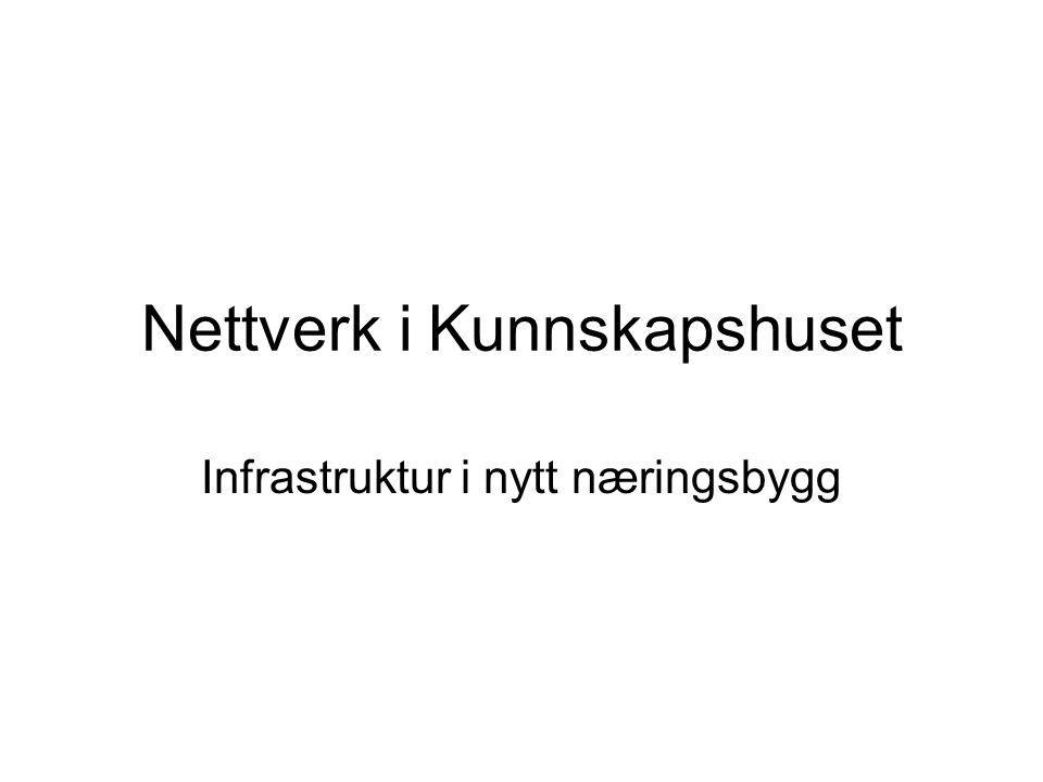 Nettverk i Kunnskapshuset Infrastruktur i nytt næringsbygg