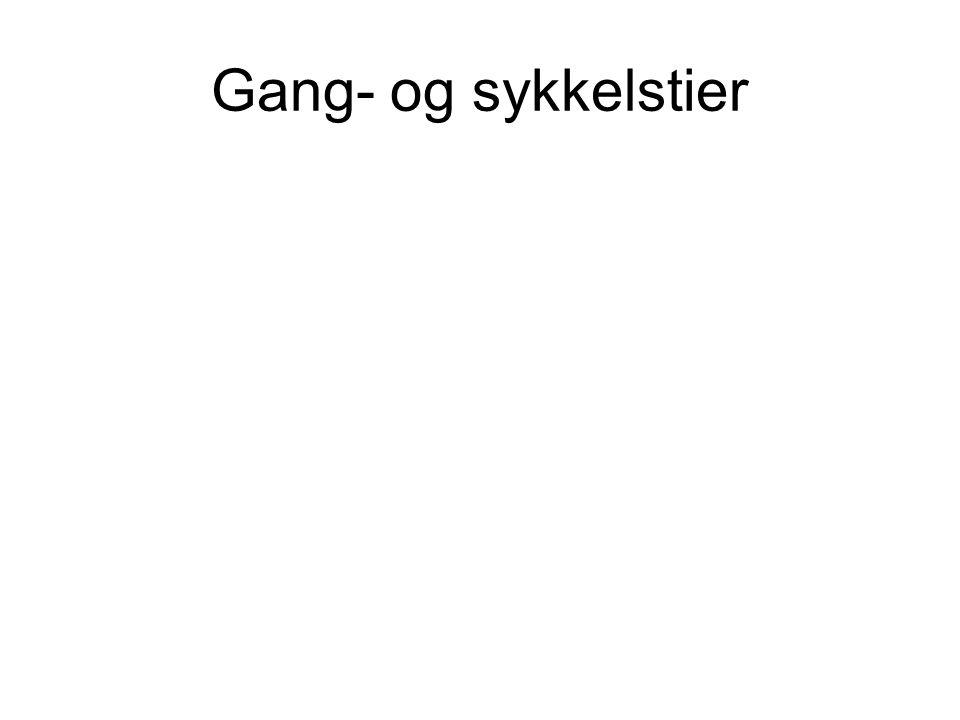 Gang- og sykkelstier