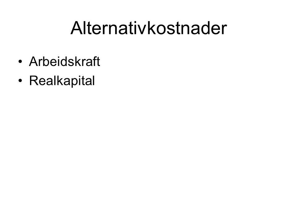Alternativkostnader Arbeidskraft Realkapital