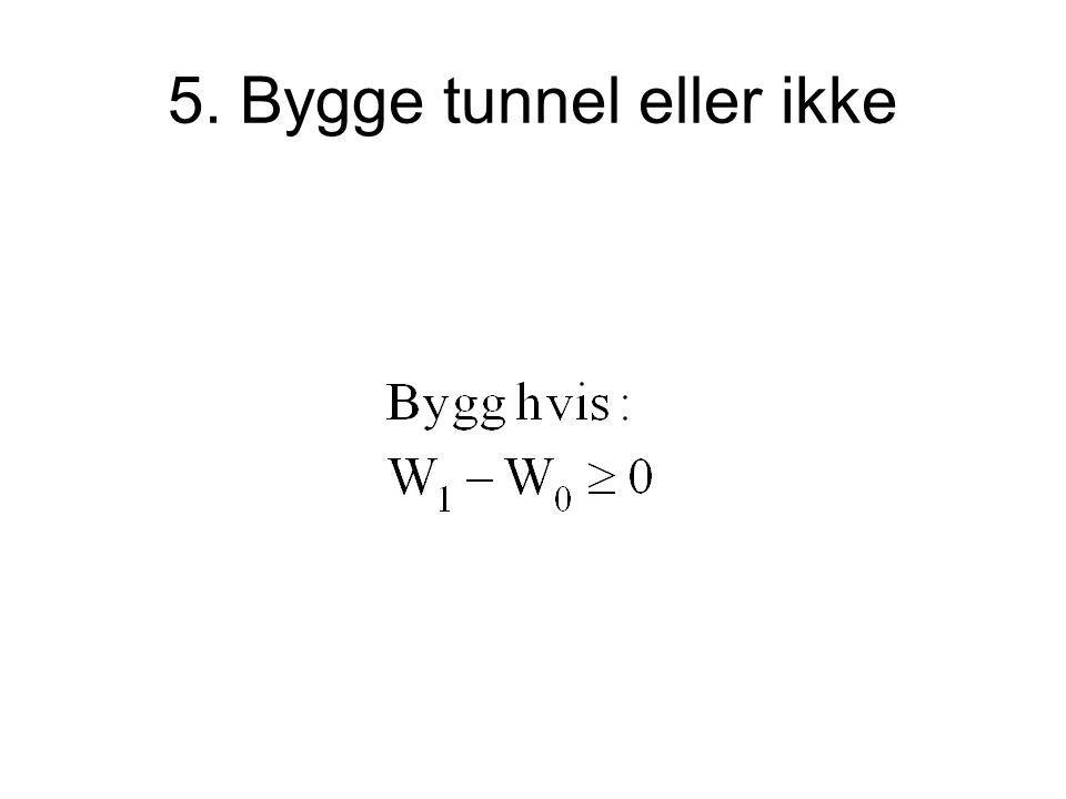 5. Bygge tunnel eller ikke