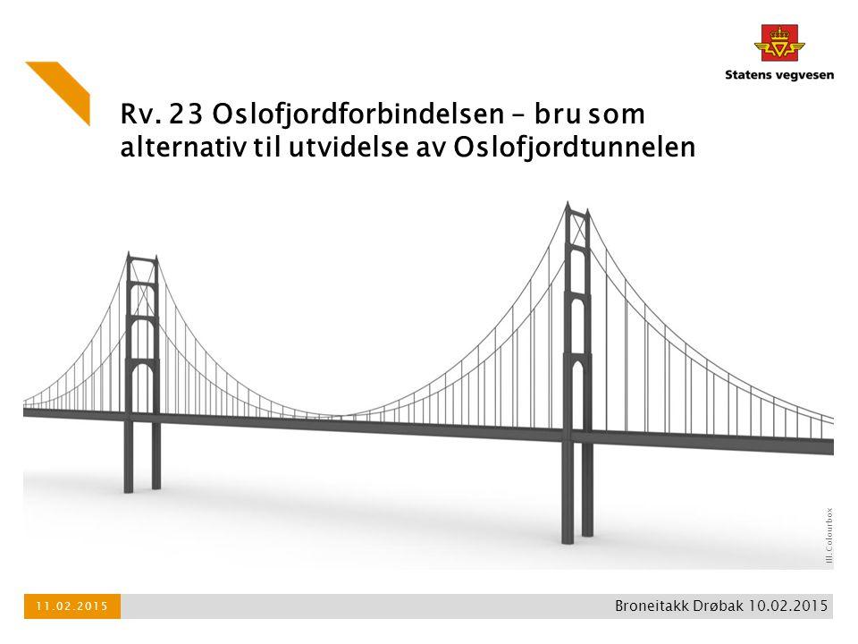 Rv. 23 Oslofjordforbindelsen – bru som alternativ til utvidelse av Oslofjordtunnelen 11.02.2015 Broneitakk Drøbak 10.02.2015 Ill. Colourbox
