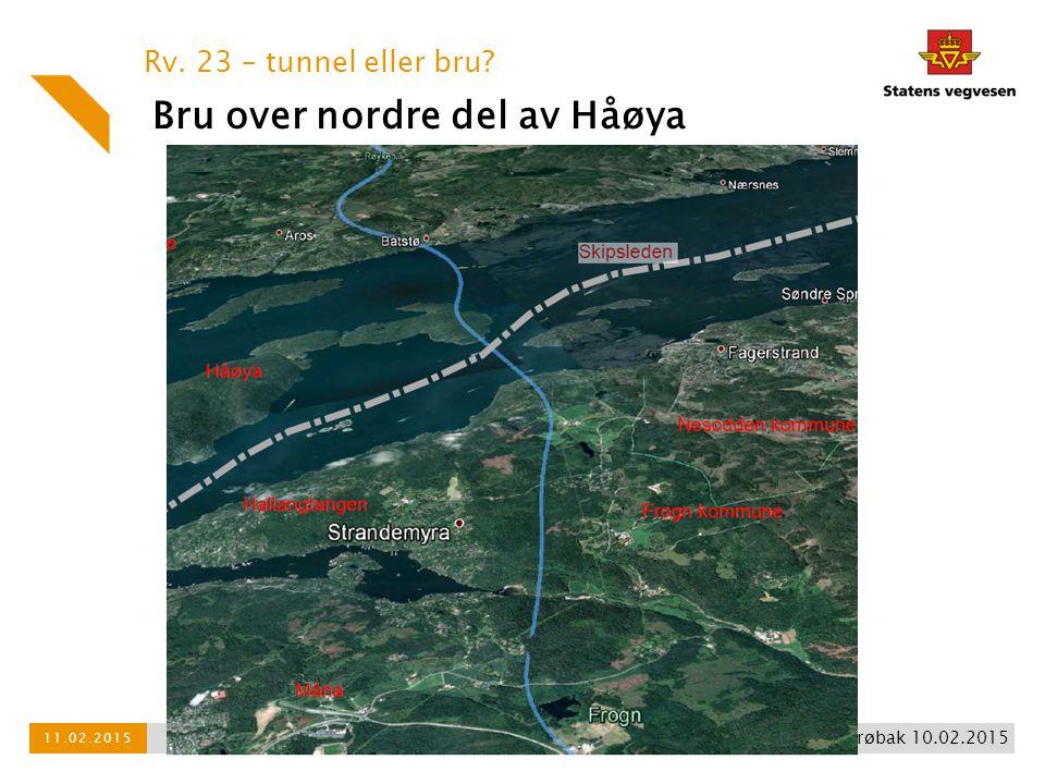 Bru over nordre del av Håøya Rv. 23 – tunnel eller bru? Broneitakk Drøbak 10.02.2015 11.02.2015