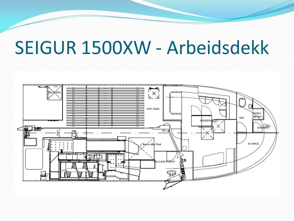 SEIGUR 1500XW - Arbeidsdekk